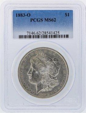 1883-o $1 Morgan Silver Dollar Pcgs Graded Ms62