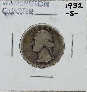 1932-s Washington Quarter Key Date Silver Coin