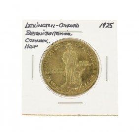 1925 Half Dollar Lexington-concord Commemorative Coin