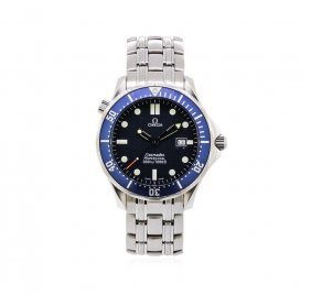 Mens Stainless Steel Omega Seamaster Professional Watch