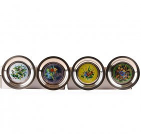 Set Of (4) Limited Edition Sterling Silver Four Seasons