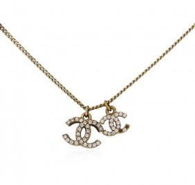 Authentic Chanel Double Logo Adjustable Necklace