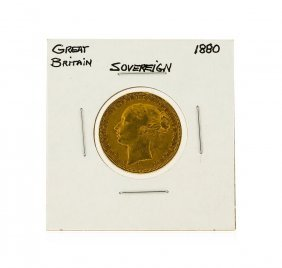 1880 Great Britain Sovereign Gold Coin