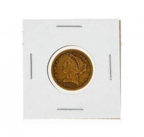 1902-s $5 Liberty Head Half Eagle Gold Coin