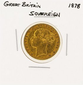1878 Great Britain 1/2 Sovereign Gold Coin