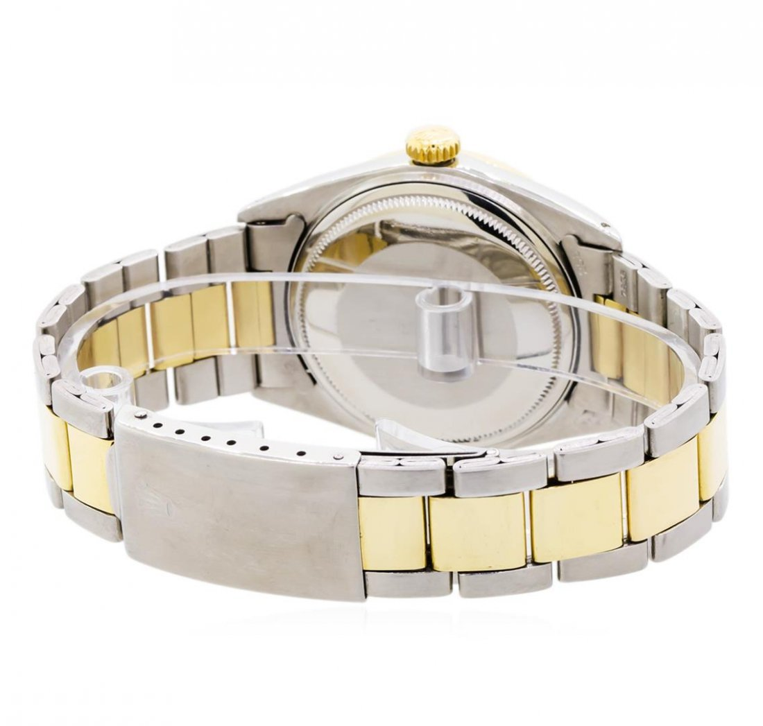 Mens Two-Tone Rolex Datejust Watch with 1.19ctw Diamond - 4