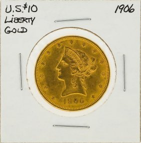 1906 $10 Liberty Head Gold Coin