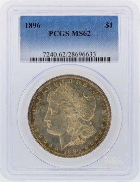 1896 $1 Morgan Silver Dollar Pcgs Graded Ms62