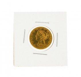 1887 $5 Liberty Head Half Eagle Gold Coin