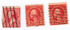 George Washington Postage Stamps Lot Of 3