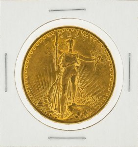 1911-s $20 St. Gaudens Double Eagle Gold Coin Xf