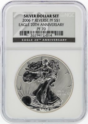 2006-p $1 American Silver Eagle Coin Reverse Proof Ngc
