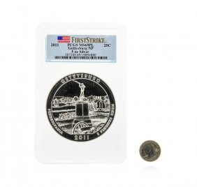 2011 America The Beautiful 5oz Silver Coin Gettysburg