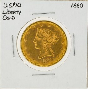 1880 $10 Liberty Head Gold Coin