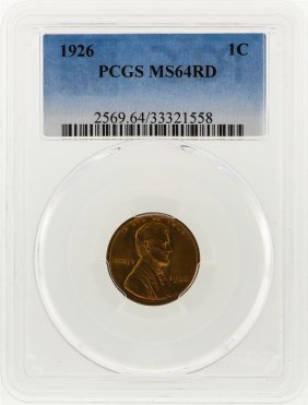 1926 Lincoln Wheat Penny Pcgs Graded Ms64rd