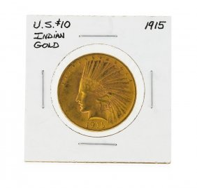 1915 $10 Indian Head Gold Coin