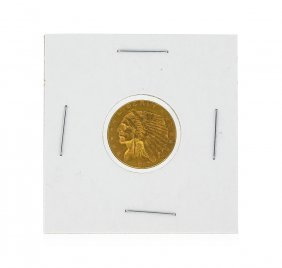 1912 $2 1/2 Indian Head Quarter Eagle Gold Coin
