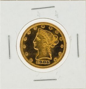 1906-d $10 Liberty Head Gold Coin