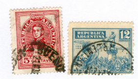 Argentina Postage Stamps Lot Of 2