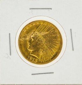 1915 $10 Indian Head Gold Coin Au