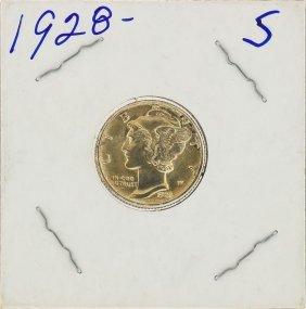 1928-s Silver Mercury Dime Coin