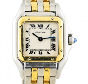 Two-tone Stainless Steel And Gold Cartier Panthere