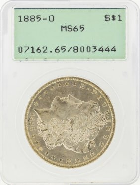 1885-o $1 Morgan Silver Dollar Pcgs Graded Ms65