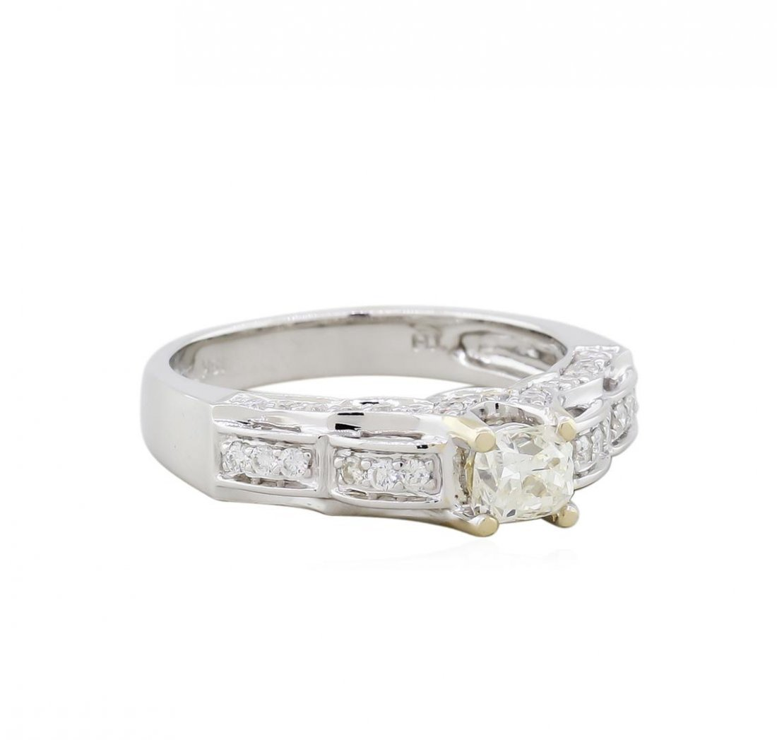14KT White Gold EGL 0.88ctw Diamond Engagement Ring