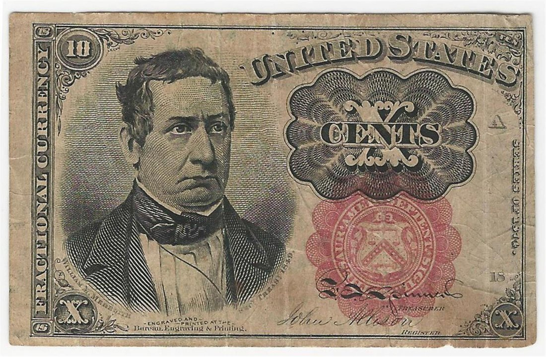 March 3, 1863 Ten Cent Fifth Issue Fractional Note