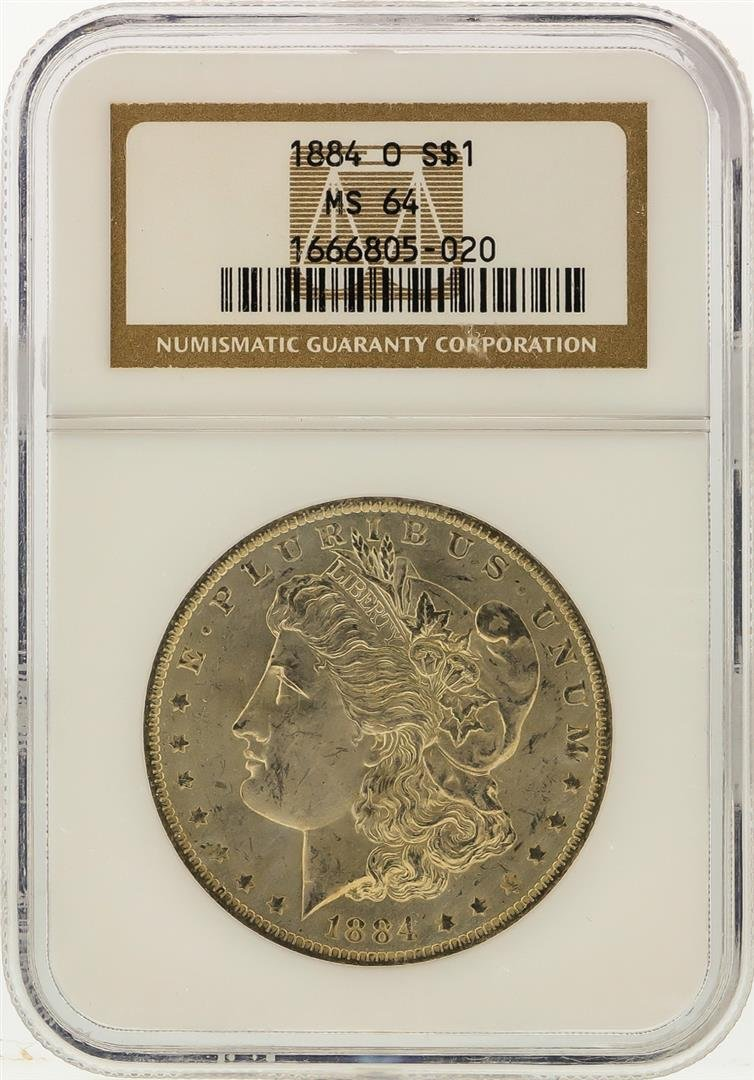 1884-O $1 Morgan Silver Dollar NGC Graded MS64