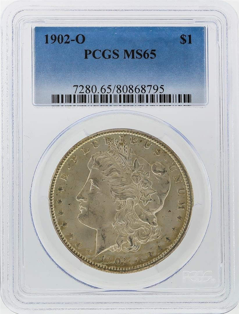 1902-O $1 Morgan Silver Dollar PCGS Graded MS65