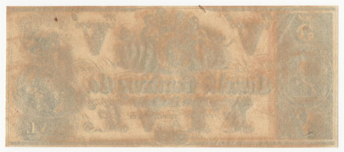 1800s $5 The New Orleans Canal & Banking Company Note - 2