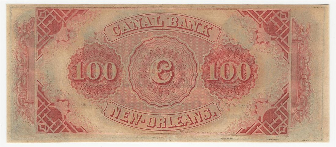 1800s $100 The New Orleans Canal & Banking Company Note - 2