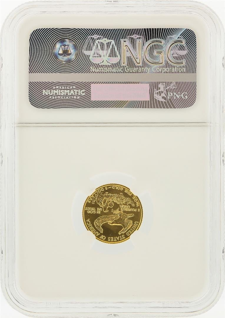 1989 $5 American Gold Eagle Coin NGC Graded MS69 - 2