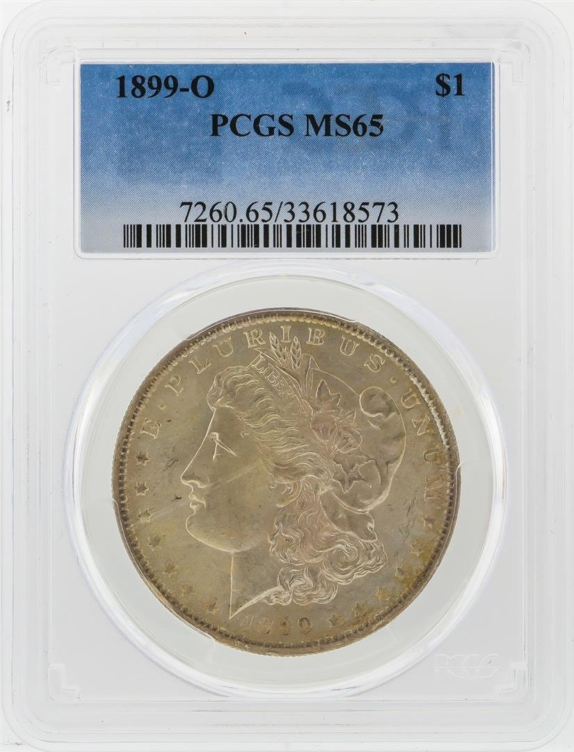 1899-O $1 Morgan Silver Dollar PCGS Graded MS65