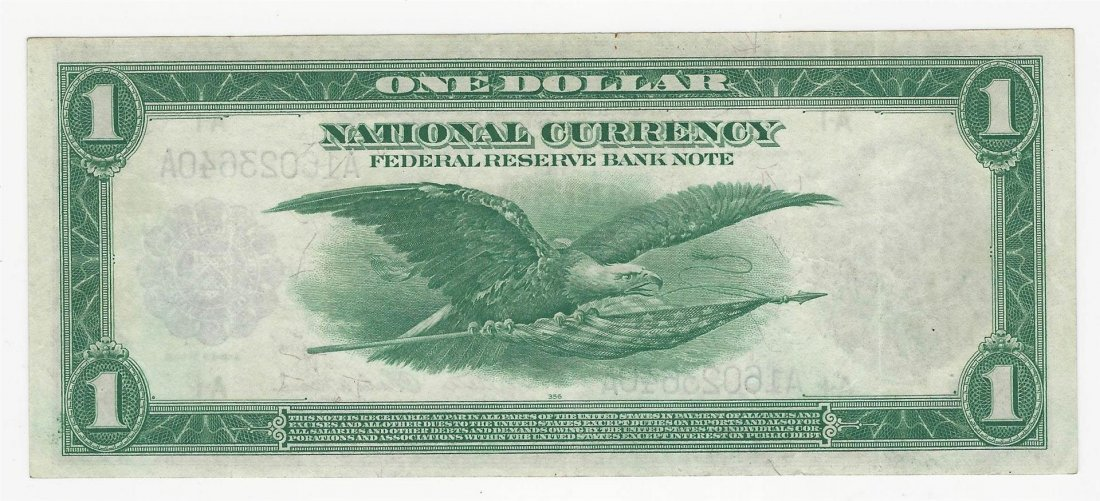 1918 $1 Federal Reserve Bank of Boston National - 2