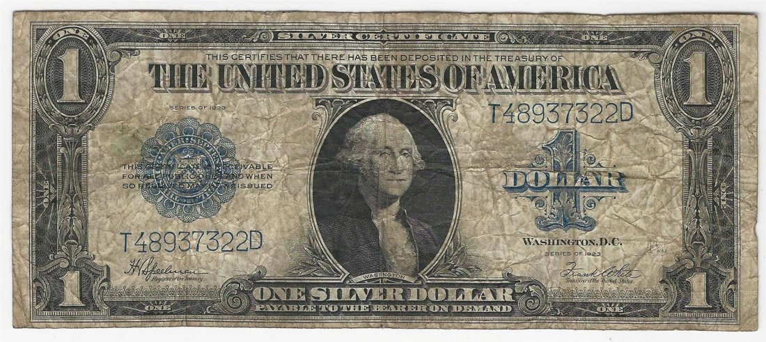 1923 Large Size $1 Silver Certificate Note