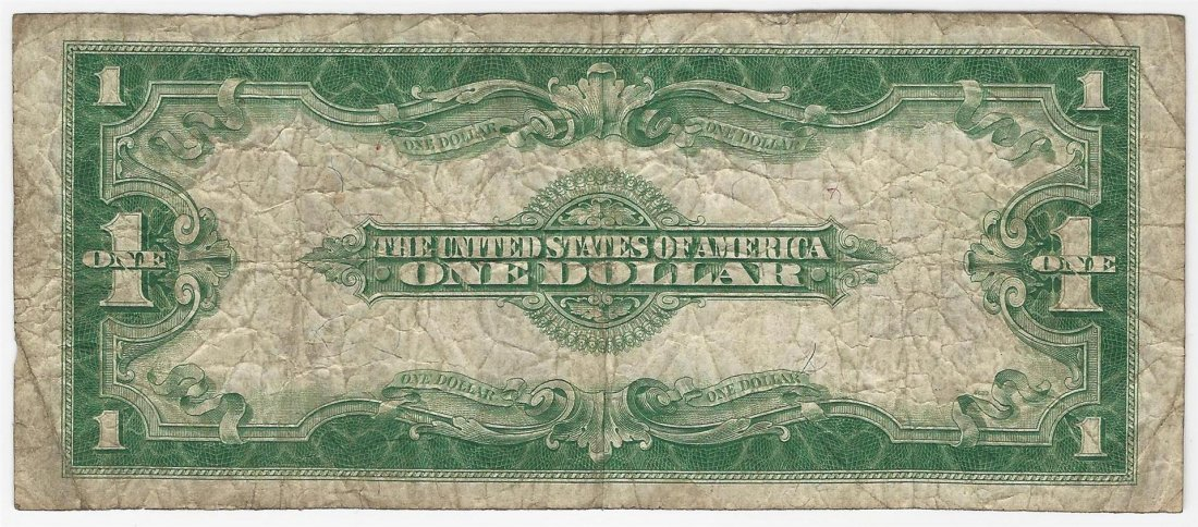 1923 Large Size $1 Silver Certificate Note - 2