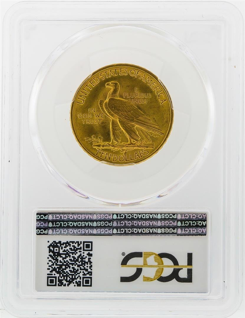 1911 $10 Indian Head Eagle Gold Coin PCGS MS63 - 2