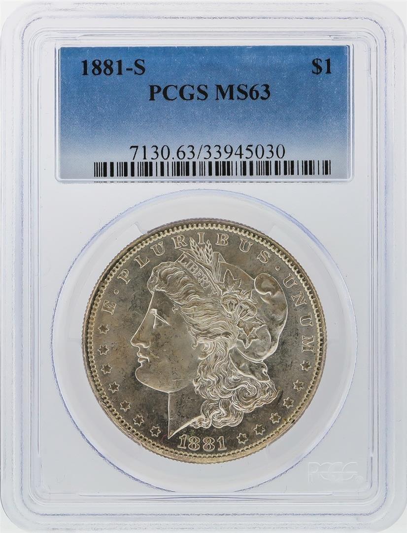 1881-S $1 Morgan Silver Dollar PCGS Graded MS63