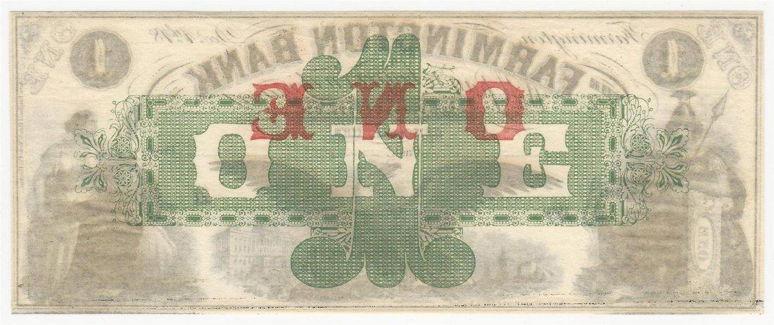 1800s $1 The Farmington Bank Obsolete Bank Note - 2