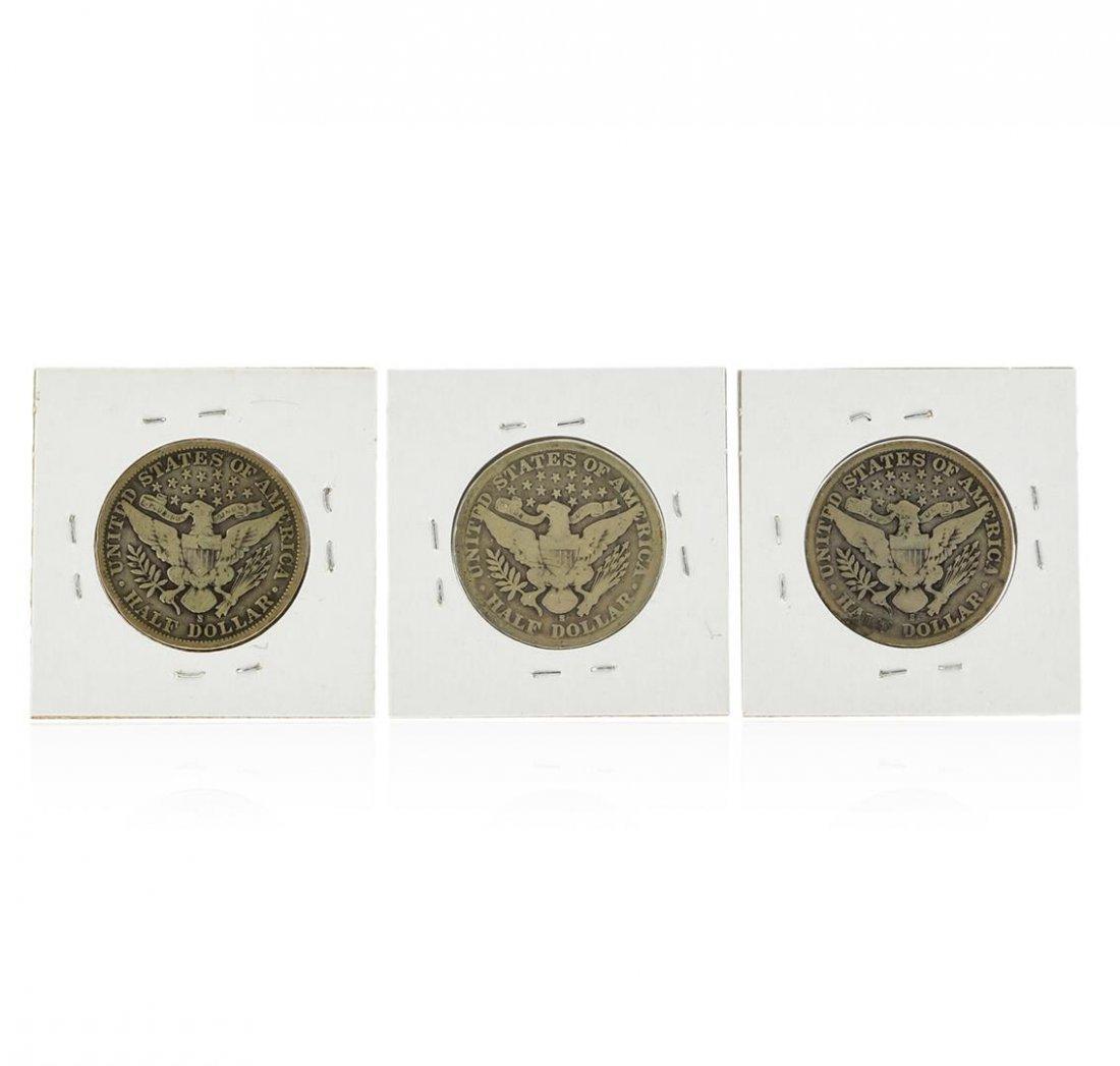 Set of 1907-S, 1908-S, 1909-S Silver Barber Half Dollar - 2