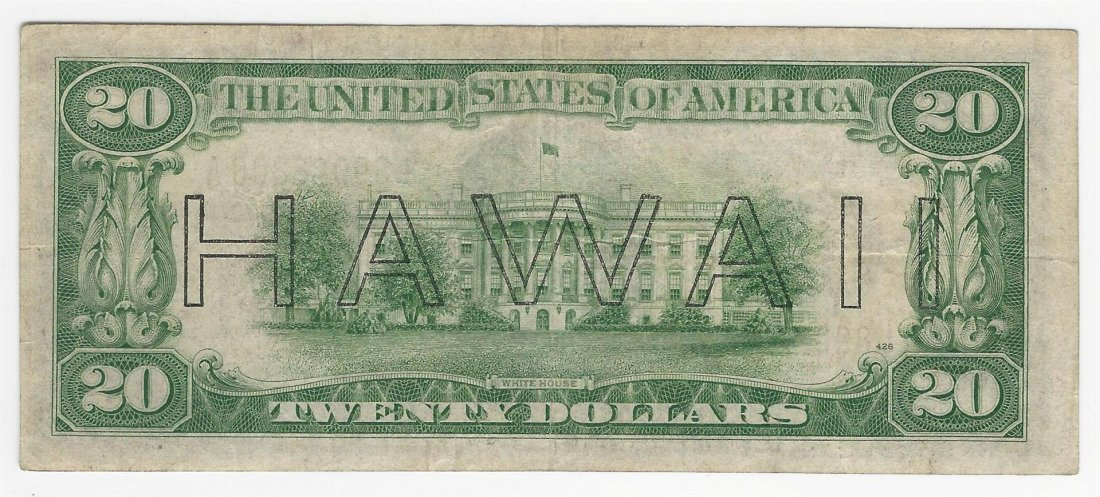 1934A $20 Federal Reserve Emergency Hawaii Note - 2