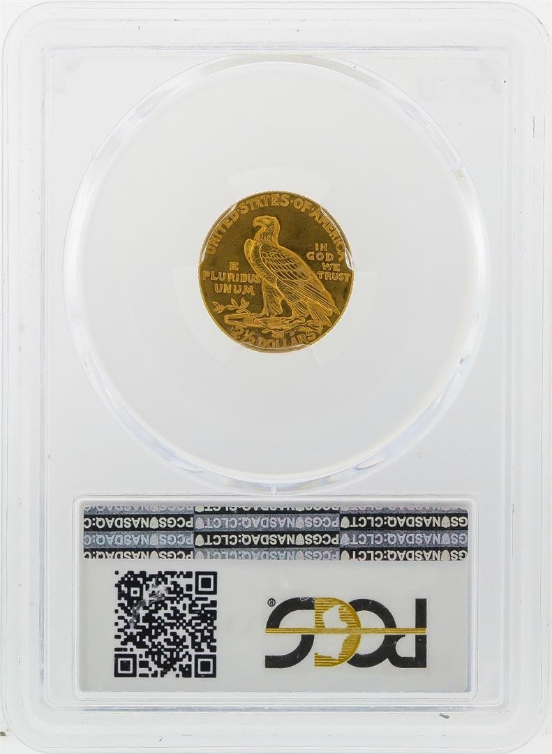 1914 $2 1/2 Indian Head Quarter Eagle Gold Coin PCGS - 2