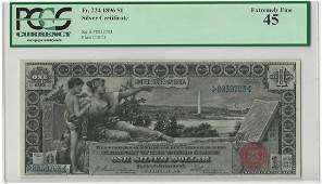 1896 $1 Silver Certificate Educational Note PCGS Graded