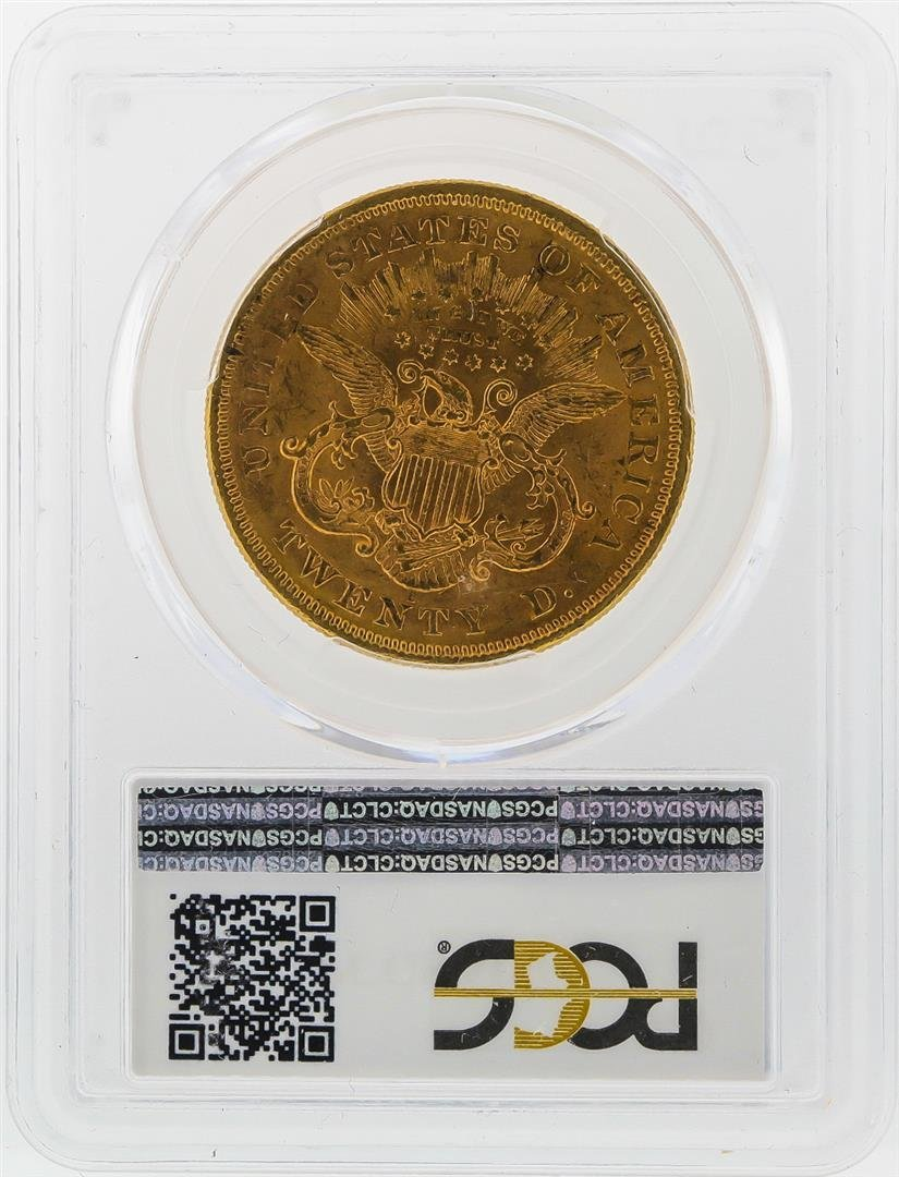 1875-S $20 Liberty Head Double Eagle Gold Coin PCGS - 2