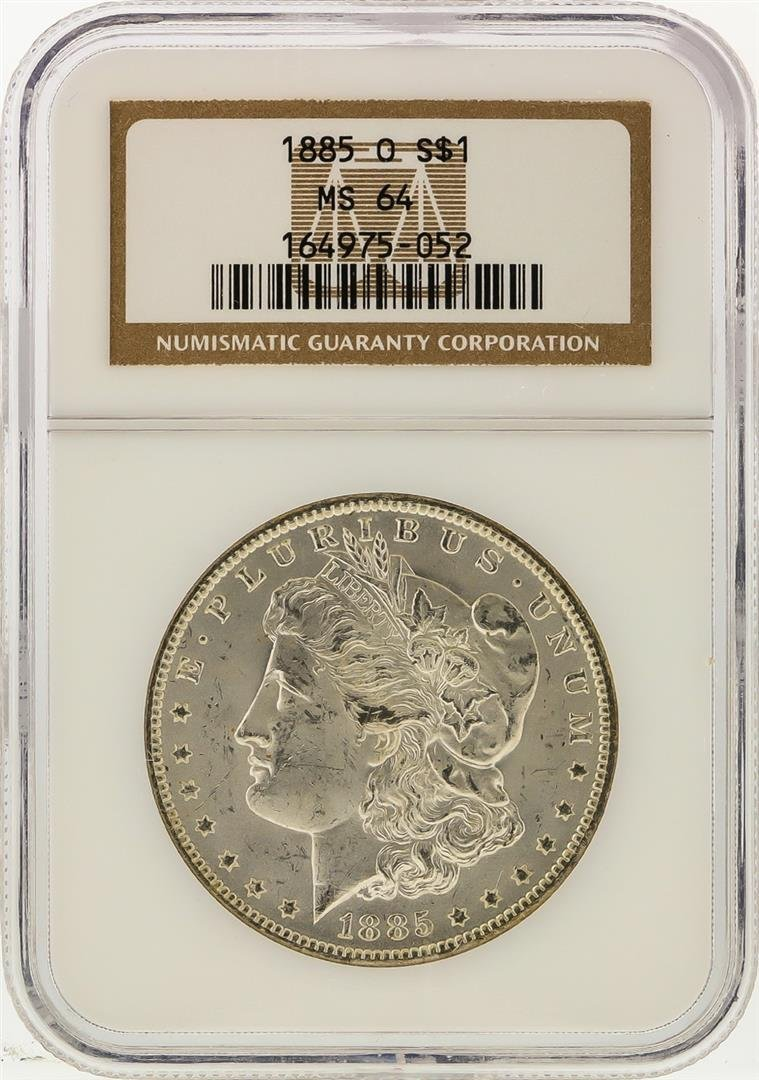 1885-O $1 Morgan Silver Dollar NGC Graded MS64