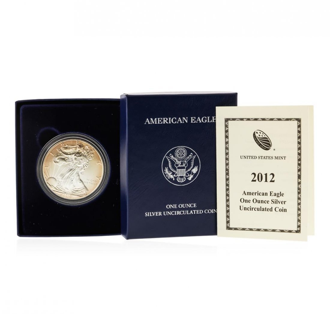2012-W West Point Burnished American Silver Eagle Coin