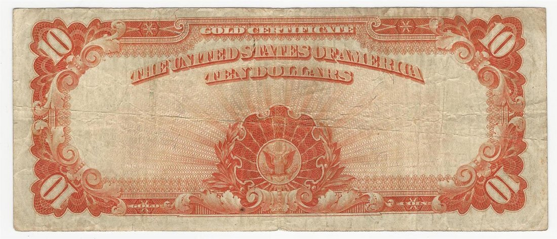 Large Size 1922 $10 Gold Certificate Note - 2