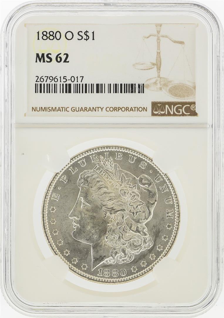 1880-O $1 Morgan Silver Dollar NGC Graded MS62